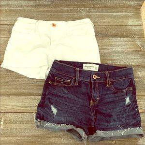 Abercrombie kids jean shorts sz.12, fit like 10